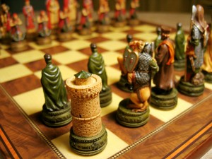 Wonderful medieval chess set