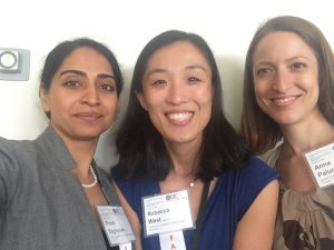 L to R: Dr. Preeti Raghavan, Rebecca West, MMMT-BC and Anna Palumbo at RIC's Stroke Course