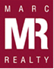 Red and White square Marc Realty logo