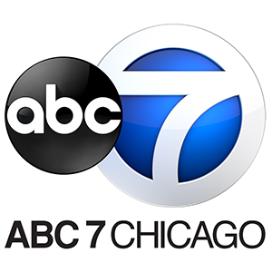 Blue and black ABC 7 Chicago logo