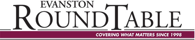 Evanston Round Table logo with maroon bar at the bottom