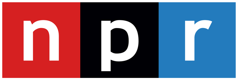 red, black, and blue NPR logo