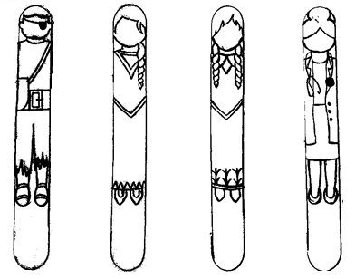 Popsicle stick character templates
