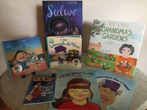 An assortment of children's books.
