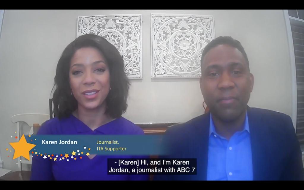 Screenshot of Karen Jordan and Christian Farr the virtual Healing Arts Celebration